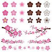 Cherry Blossoms or Sakura flowers Ornament