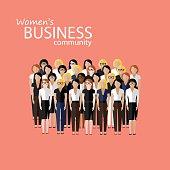 illustration of women business community
