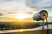 CCTV Camera or surveillance with sunlight