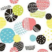 Simple scandinavian pattern with decorative circles.