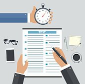 Employment on competitive basis. Filling resume writing tests co