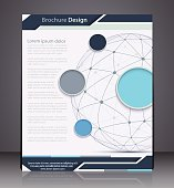 Vector Layout  Brochure with Sphere, Flyer Design Template, Web,