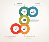 Abstract Circles Parts Infographic With Step By Step Structure.