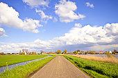 Typical dutch landscape in springtime