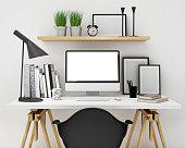 workspace mock up background