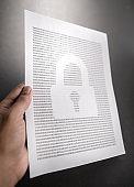 locked document data