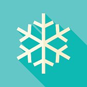 Vector Flat Design Christmas Winter Snowflake Icon
