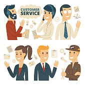 Customer Service, Infographic Elements