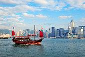 Boat and Hong Kong