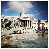 National Gallery on Trafalgar Square in London