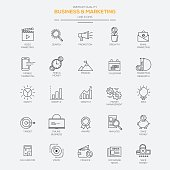 Line flat icons set  for Business and Marketing