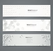 Collection of geometric banner.