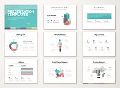 Creative infographic presentation templates and business brochures