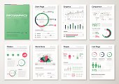 Big set of infographic vector elements in flat business style.