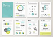 Fresh infographics vector concept. Business graphics brochures