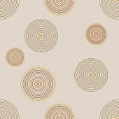 Seamless circle pattern. Modern stylish texture