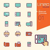 Lineo Colors - Media and Technology outline icons