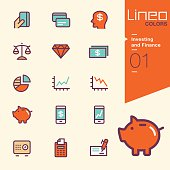 Lineo Colors - Investing and Finance icons