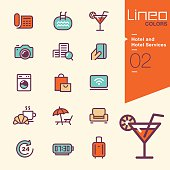 Lineo Colors - Hotel and Hotel Services icons