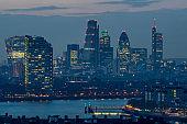 London Skyline seen from Greenwich Observatory