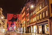 Rue du Vieux Marche aux Poissons on Christmas