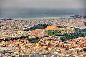 Macro effect: the Acropolis of Athens from Mount Lycabettus