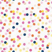 Colorful confetti texture for party design.