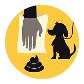 Clean up after your dog, abstract signal