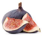 Sliced ripe figs