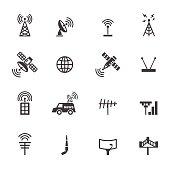 antenna and satellite icons