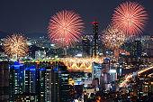 Fireworks in Seoul City,Korea