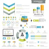 Various business infographics elements.