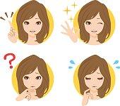 Women face icon