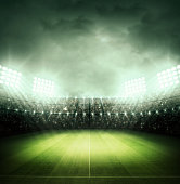 soccer stadium and the bright lights