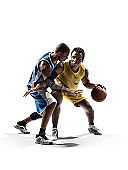 Isolated basketball players