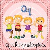Letter Q for quadruplets