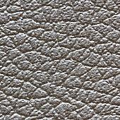 closeup grey leather