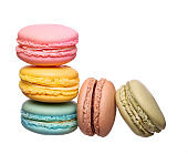 Colorful macaroon isolated