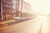City commuters. High key blurred image of a street