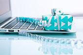 E-commerce. Buy online concept