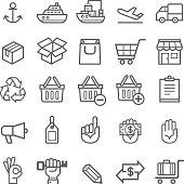 Business transportation element icons.