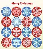 Christmas Card - snowflakes vector set