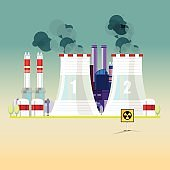 nuclear power plant - vector illustration