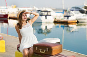 Young woman ready for sea cruise