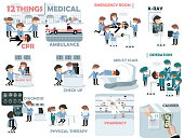 beautiful graphic design of medical elements,12 things medical