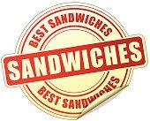 sandwiches red sticker