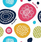 Vector decorative pattern in scandinavian style