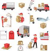 Delivery service set