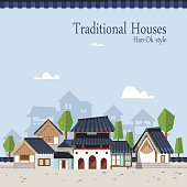 Korean traditional town A01