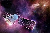 satellite orbiting